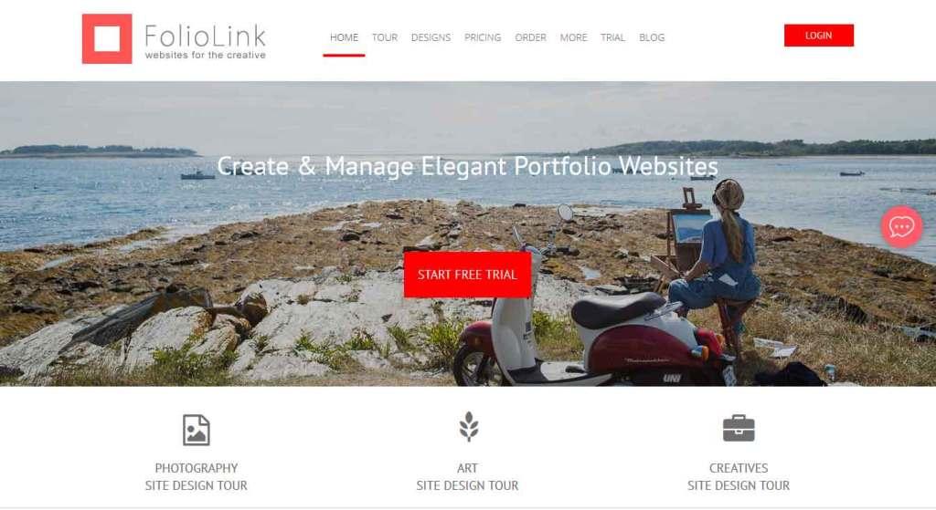 foliolink : logiciel de création de site web