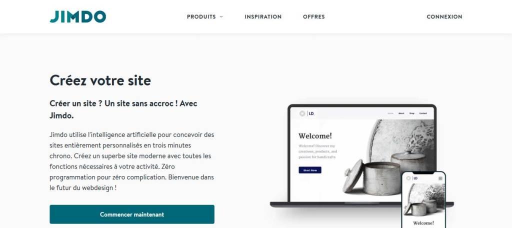 Jimdo : logiciel de création de site web
