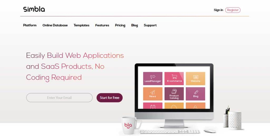 simbla : constructeur de site web