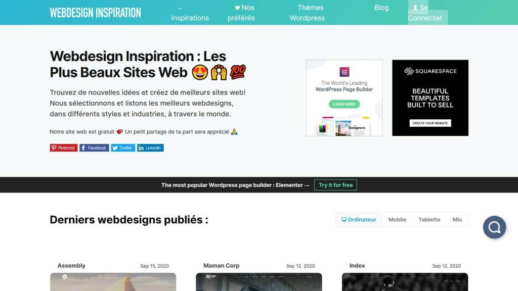 site webdesign inspiration
