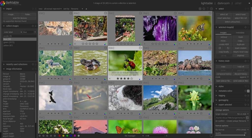 darkatable : logiciel de retouche photo