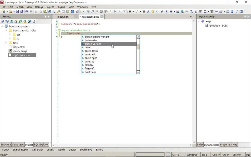 utilisation du javascript dans codelobster