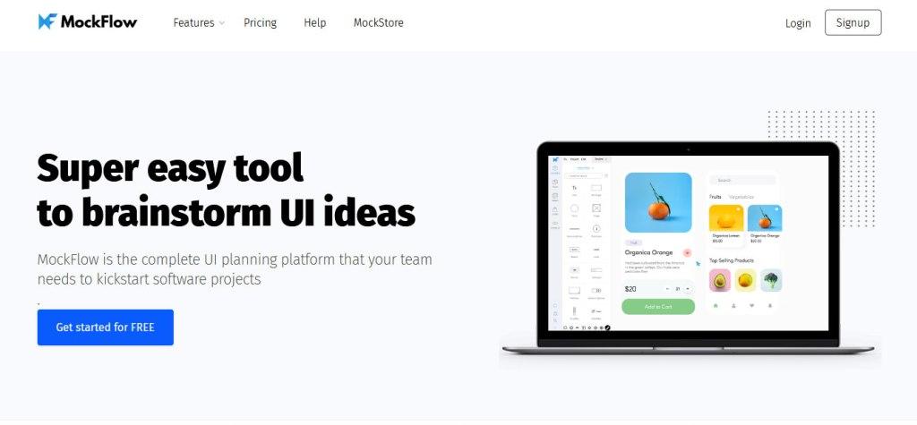 mockflow : outil de prototypage