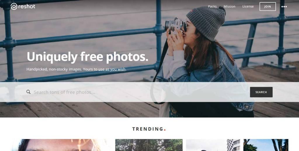 reshot site d'images gratuites