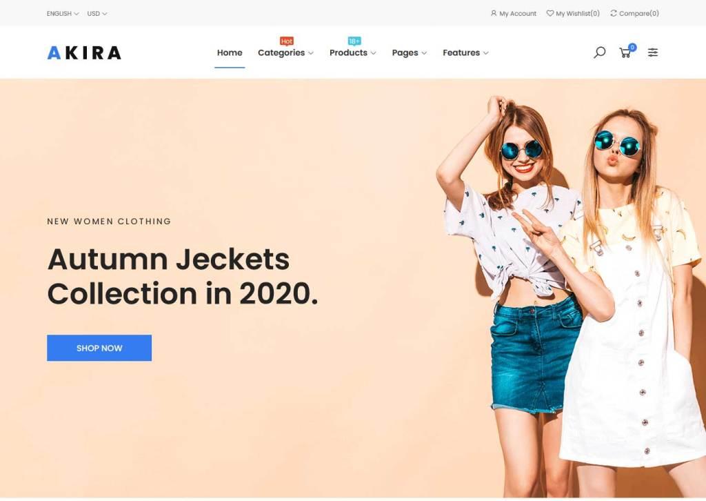 akira : thème prestashop de mode