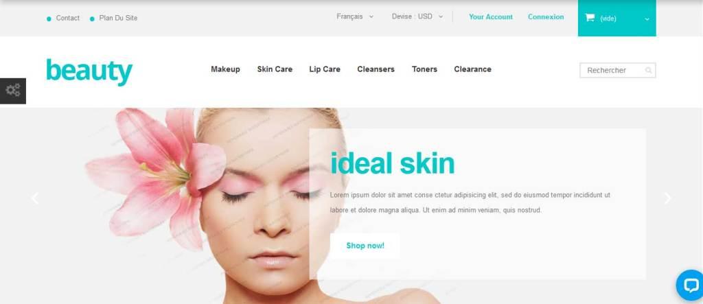 beauty : thème Prestashop gratuit