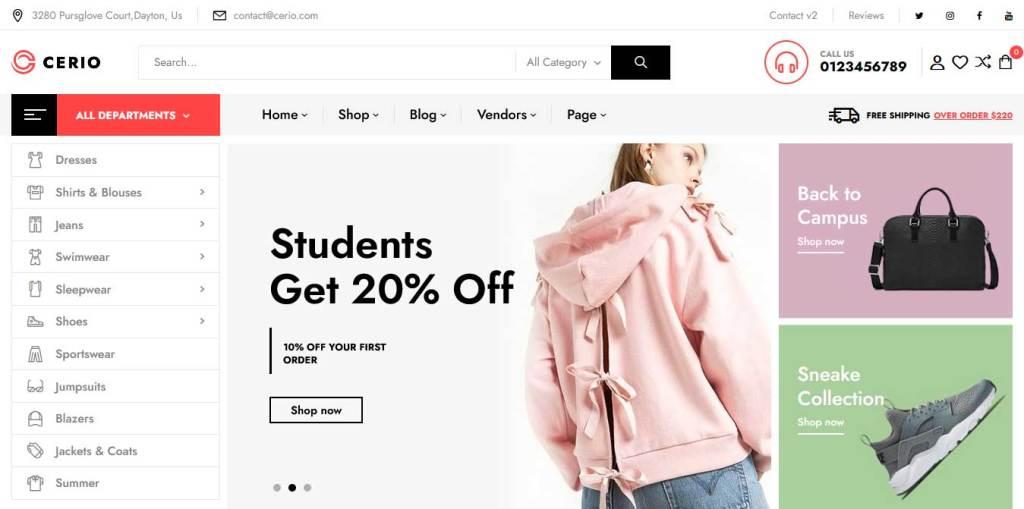 thèmes wordpress ecommerce de mode