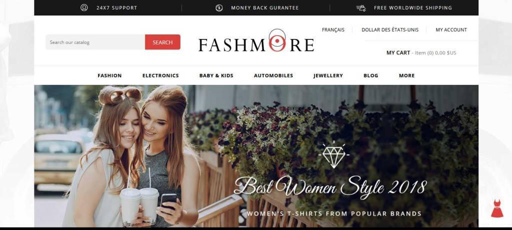 fashmore : thème prestashop de mode