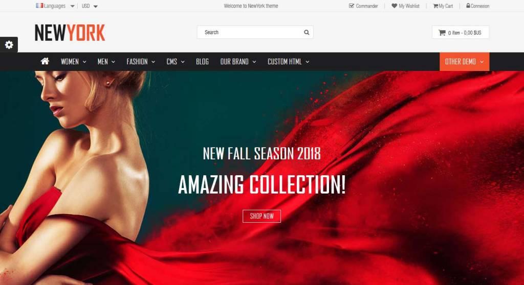new york : thème prestashop de mode