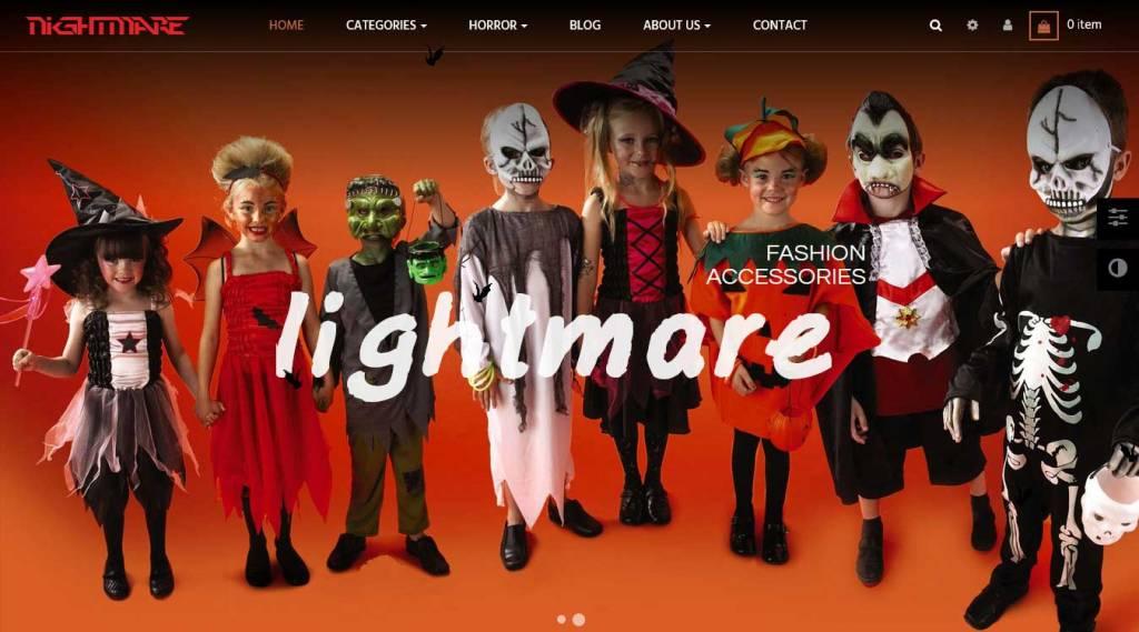 Nightmare : thème Prestashop gratuit