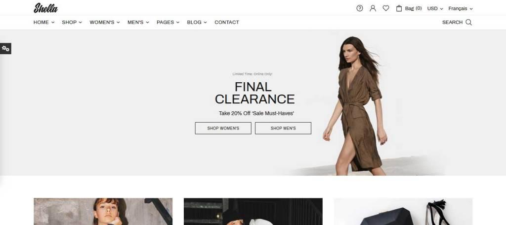 shella : thème prestashop de mode