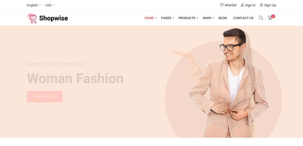 thème wordpress ecommerce shopwise