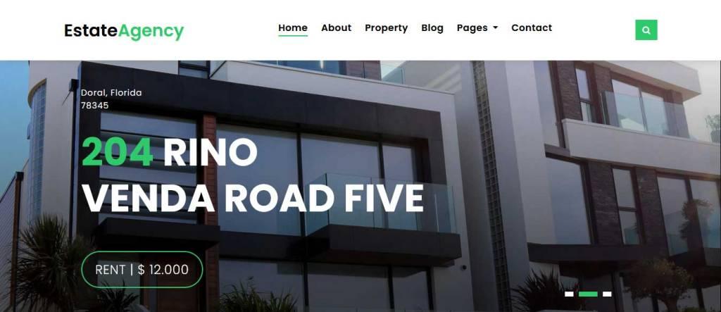 estate agency : thème immobilier gratuit