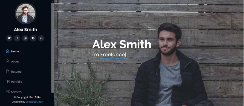 iportfolio : thème gratuit bootstrap