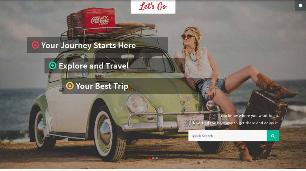 let's-go : template bootstrap agence de voyage gratuit