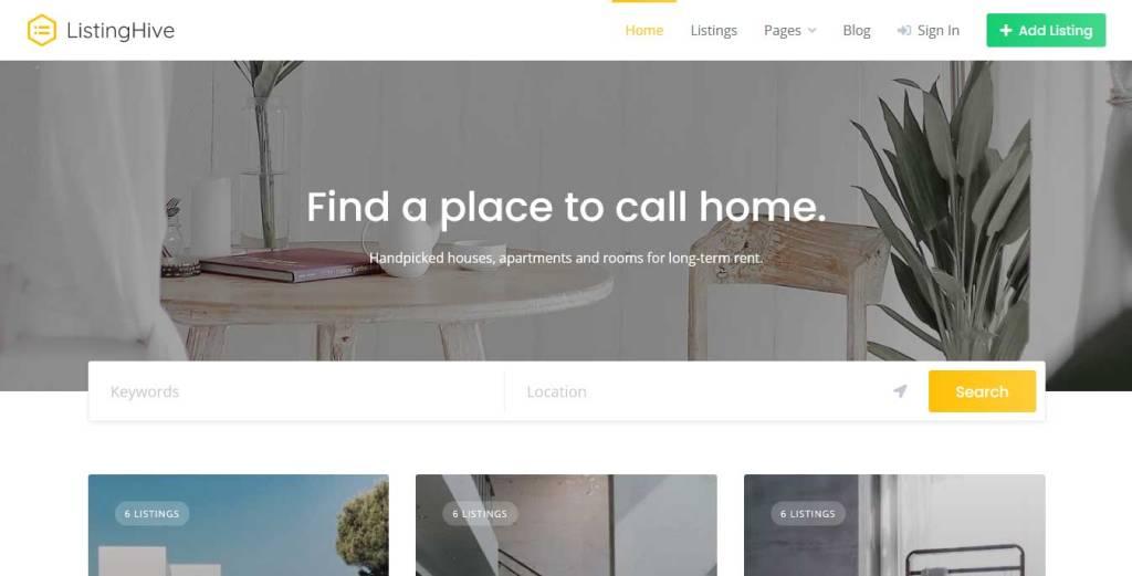 listinghive : thème immobilier gratuit