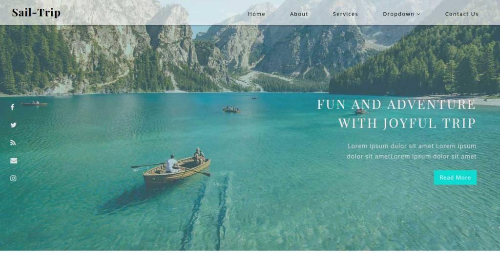 sail trip : template bootstrap agence de voyage gratuit