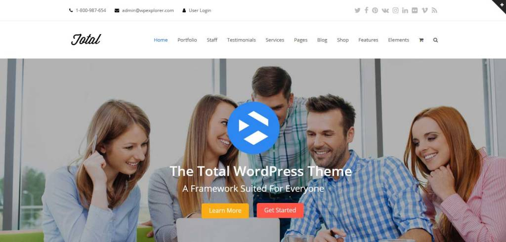 total : thème premium wordpress