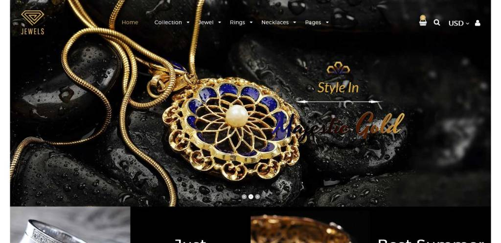 jewerly : thèmes pour site shopify de bijoux