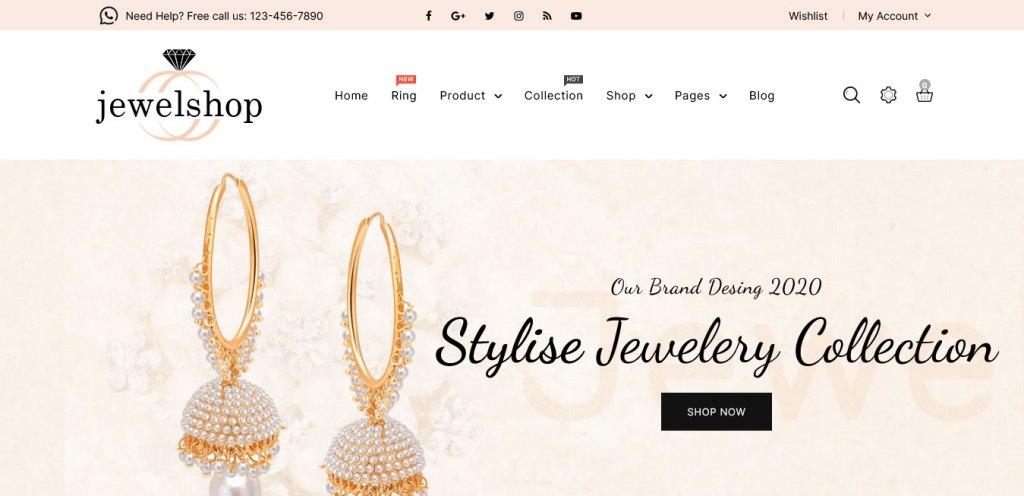 jewelshop : thèmes pour site shopify de bijoux