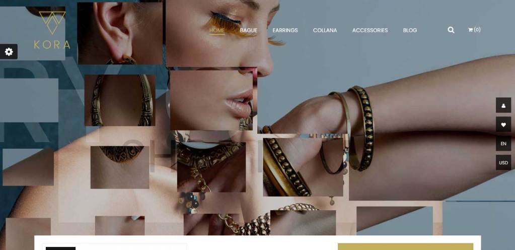 kora : thèmes prestashop pour site de bijoux