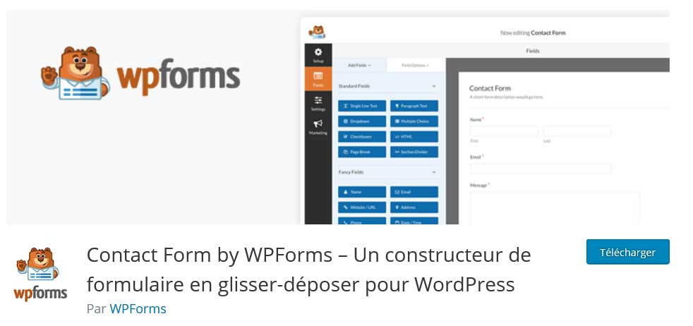 wpforms : plugins gratuits wordpress
