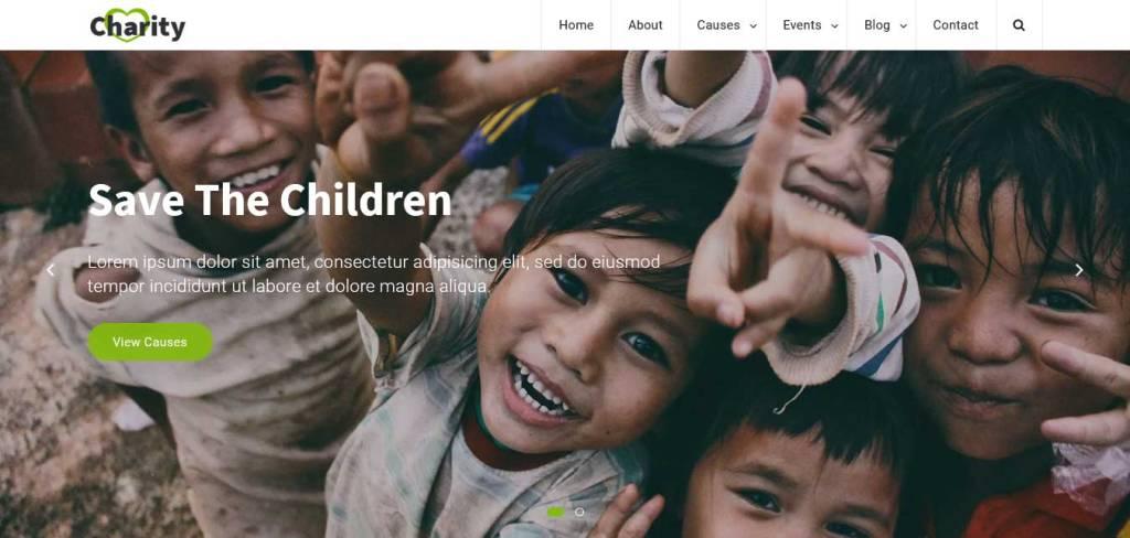 charity : thèmes gratuits pour site d'association