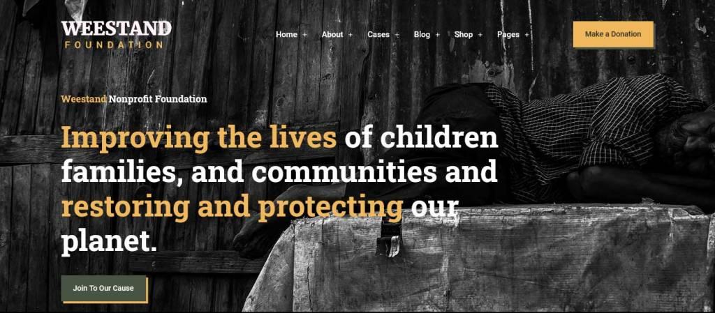 weestand : thèmes wordpress pour site d'association