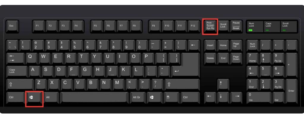 clavier d'ordinateur : combinaisons de touche pour enregistrer ecran d'ordinateur sous windows