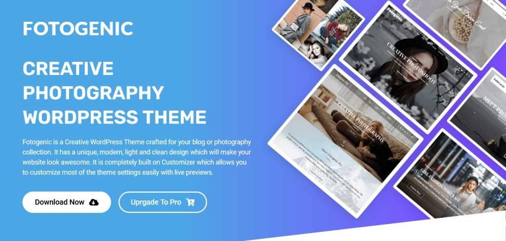 fotogenic : thèmes wordpress gratuits pour photographes
