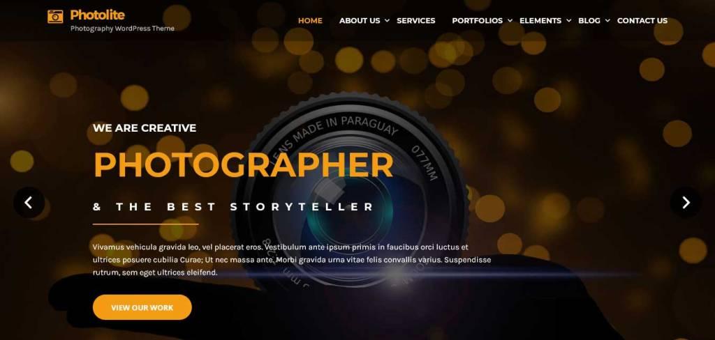 photolite : thèmes wordpress gratuits pour photographes