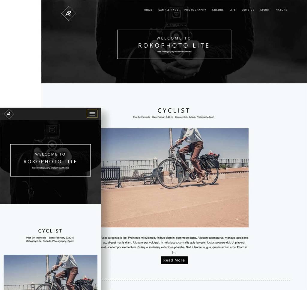 rokophoto : thèmes wordpress gratuits pour photographes