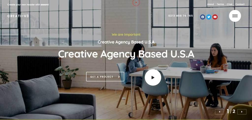awam : thèmes wordpress pour agence web