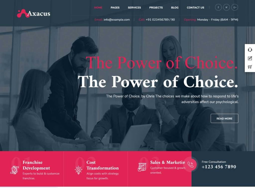 axacus : thèmes wordpress pour agence web
