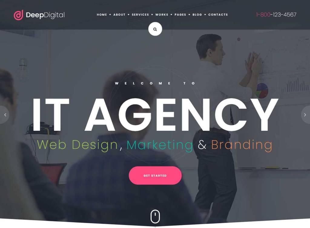 deepdigital : thèmes wordpress pour agence web