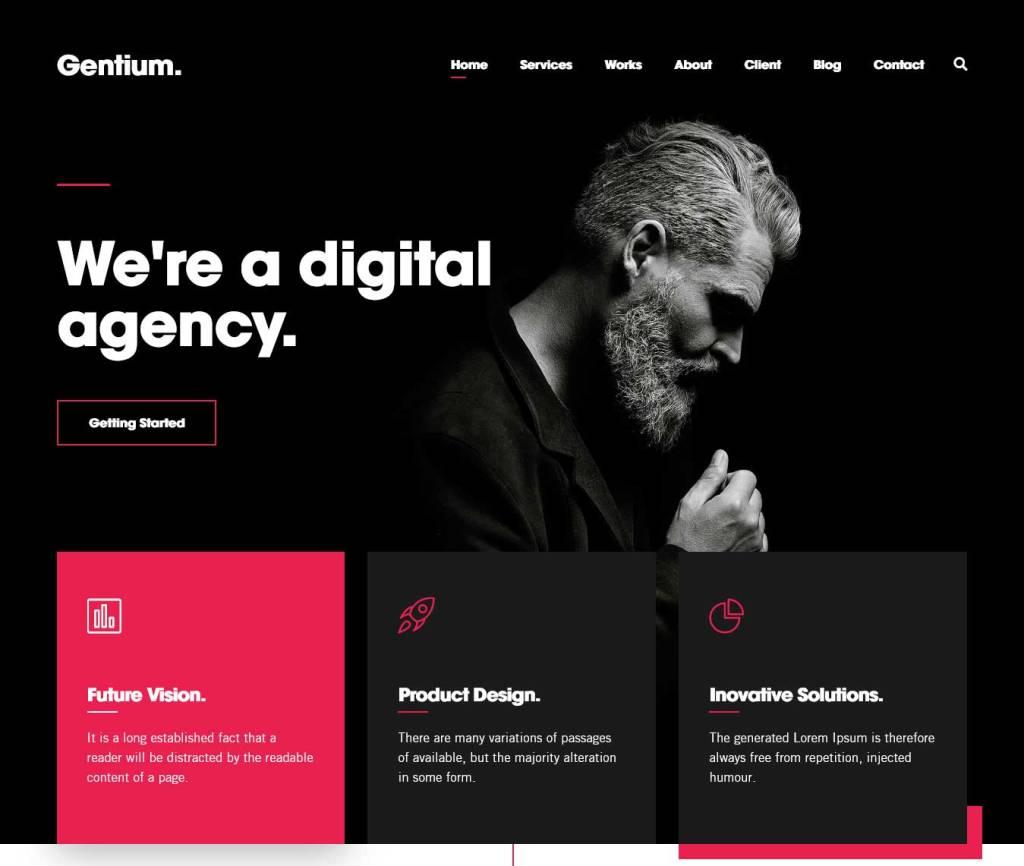 gentium : thèmes wordpress pour agence web