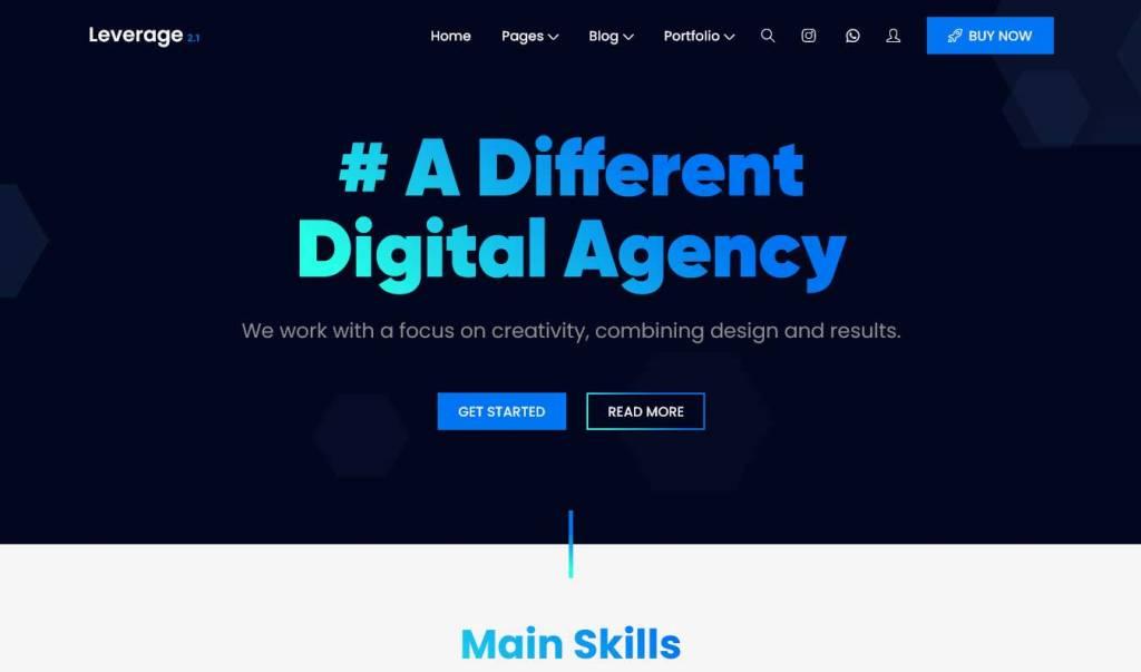 leverage : thèmes wordpress pour agence web