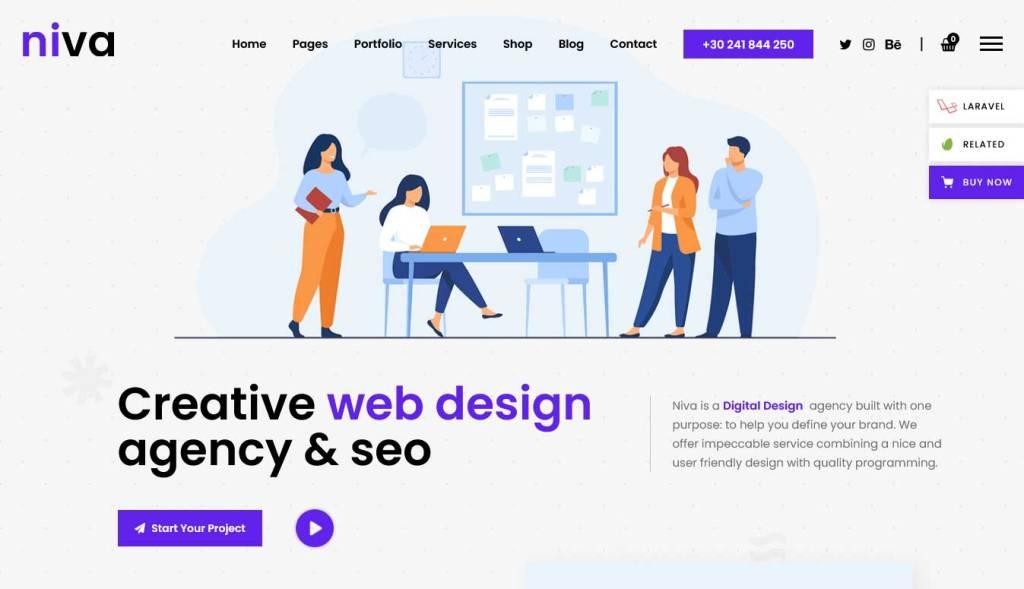 niva : thèmes wordpress pour agence web