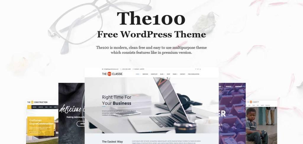 the 100 : thèmes WordPress gratuits pour agence web