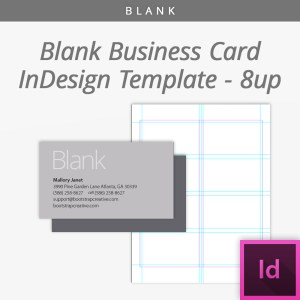 blank indesign business card template