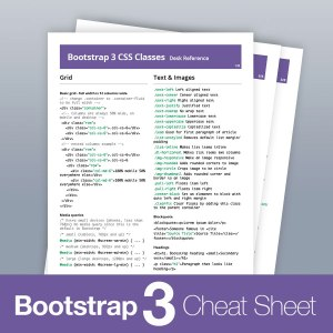 Bootstrap 3 All Classes List Cheat Sheet Reference PDF (2019)