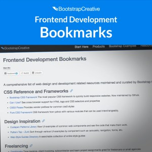 frontend development bookmarks