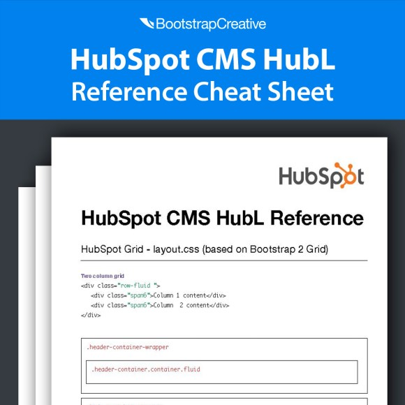 hubspot hubl reference cheat sheet