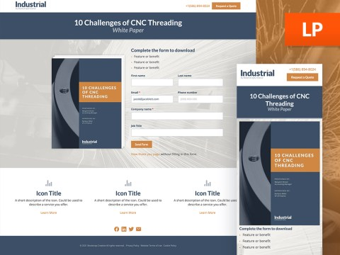 hubspot lead magnet landing page template