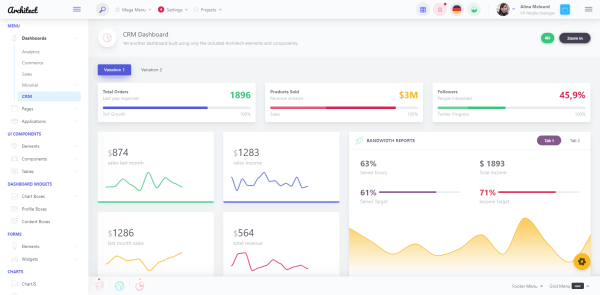 ArchitecUI React admin template