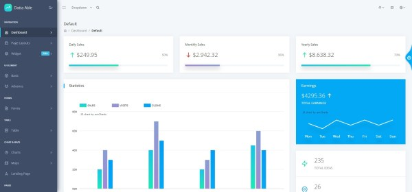 Datta able react admin template