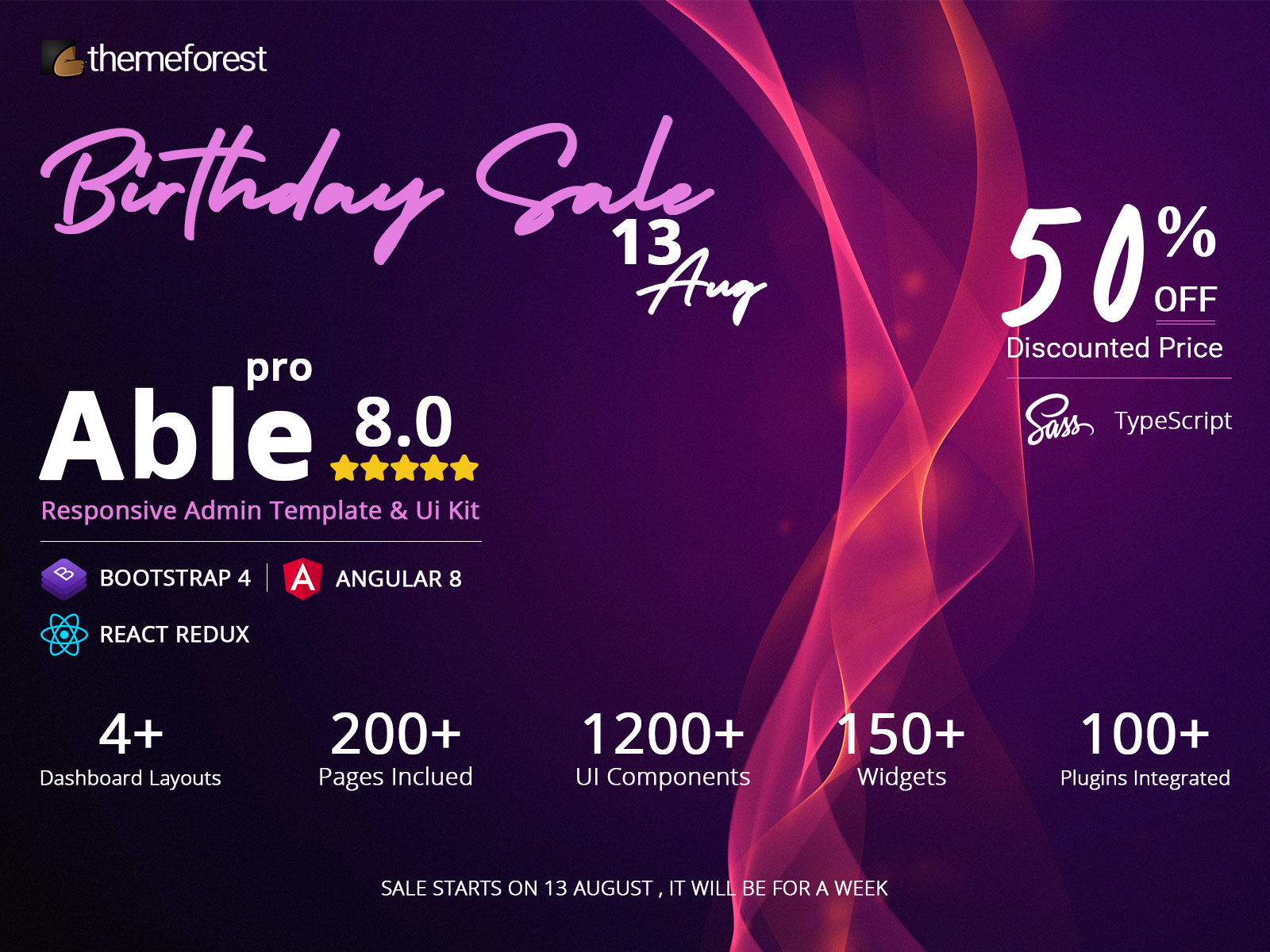 themeforest birthday sale