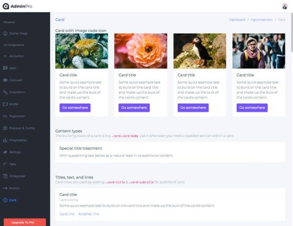 AdminPro Best Angular 8 and 7 Lite Admin Template