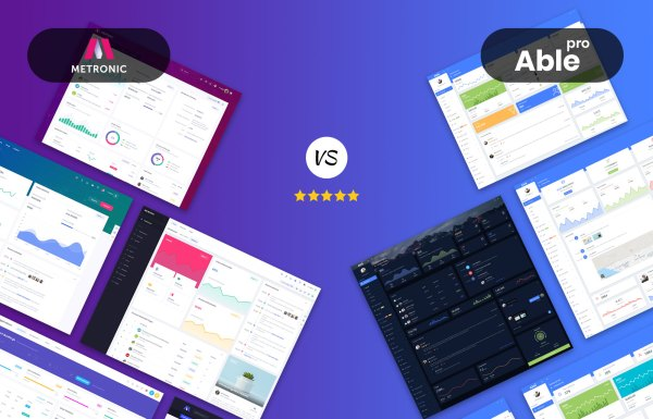 metronic VS able pro admin dashboard template layouts
