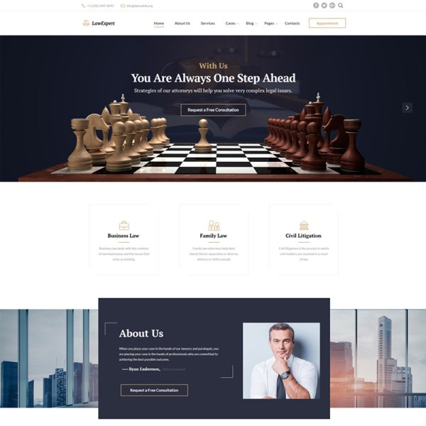 LawExpert Bootstrap Template
